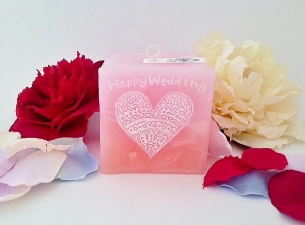 結婚祝いのプレゼント用キャンドル