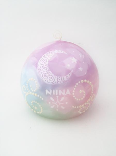 姪っ子さんへのクリスマスプレゼントに名前入りのオーダーメイドキャンドル☆