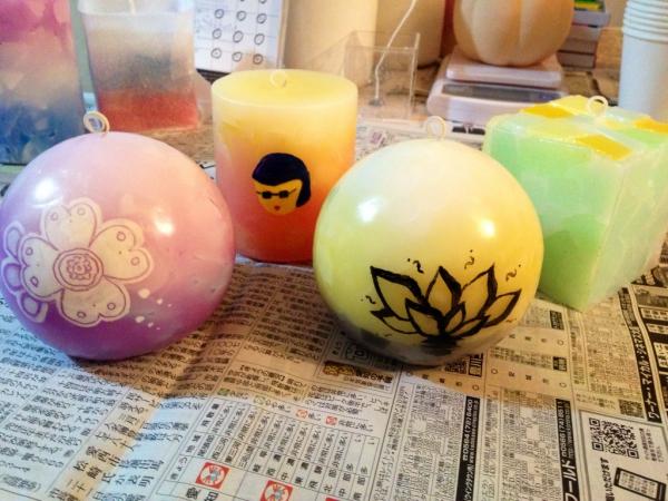 クリスマスプレゼント用のキャンドル作り☆