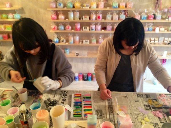 名古屋市中区のキャンドルショップでキャンドル作り体験☆