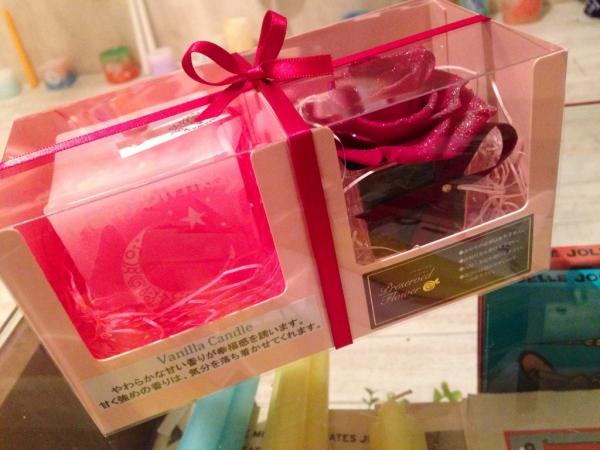 キャンドルとお花のセット☆プチギフトに新色登場です!