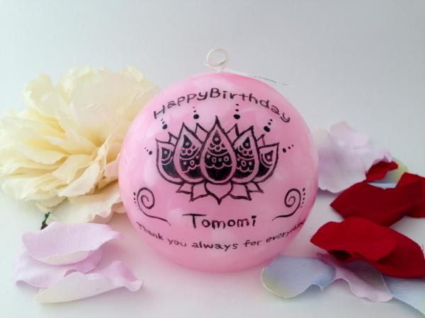 先輩のお誕生日プレゼントに名前やメッセージの入るアロマキャンドルを☆