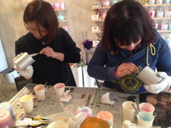 キャンドル作り体験@名古屋市中区のキャンドルショップKumushで