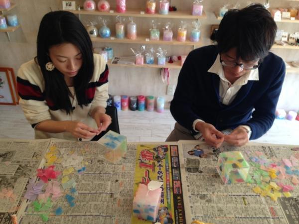 手作り体験なら、名古屋市中区のキャンドルショップKumushでキャンドル作り体験してみませんか?