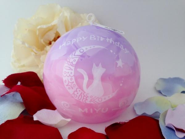 お誕生日プレゼントにオーダーメイドのアロマキャンドル☆