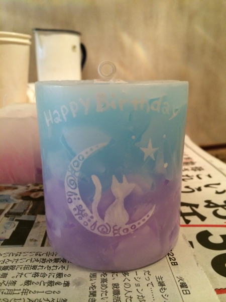 お誕生日プレゼント★可愛いデザインのキャンドルを★