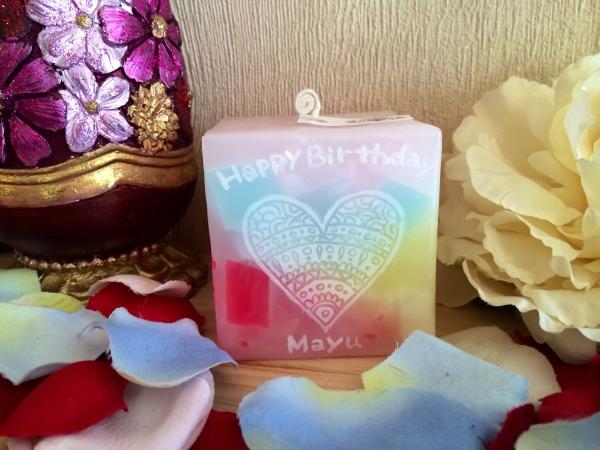 お友達のお誕生日プレゼントに、可愛いアロマキャンドルを!