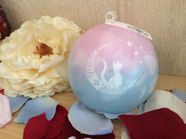 お誕生日プレゼント★キラキラのラインストーン付きのアロマキャンドルにお名前を入れて★