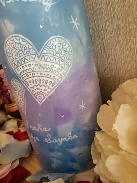 結婚のお祝いの贈り物に、いつまでも飾れるBIGなキャンドルを★