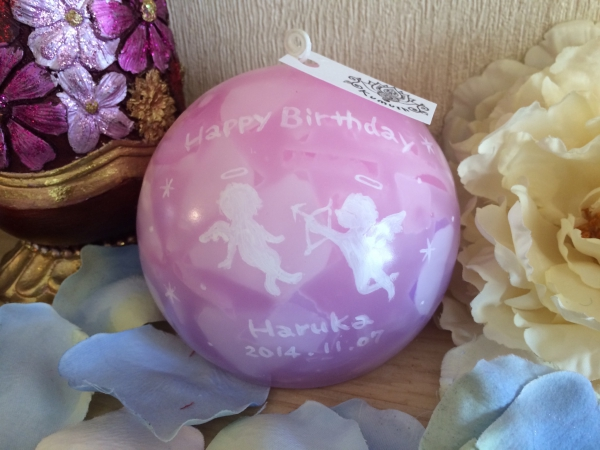 女性へのお誕生日プレゼントに★オーダーメイドのアロマキャンドルを★
