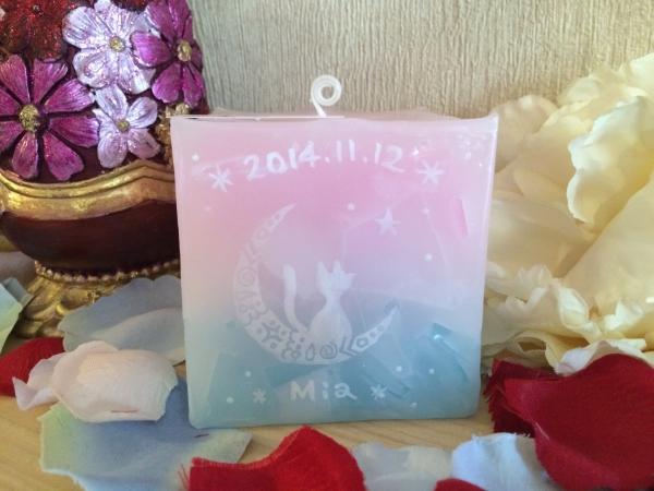 お誕生日プレゼントに☆名前やお誕生日の日付の入った、1点物のアロマキャンドルを☆岐阜県のお客様からご注文いただきました!