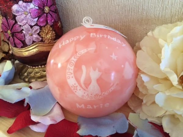 女性へのお誕生日プレゼントに☆メッセージとお名前入りのアロマキャンドルを☆