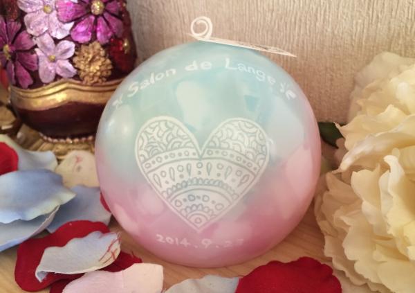 サロンの開店祝いに☆店名入りのアロマキャンドルをプレゼントに☆