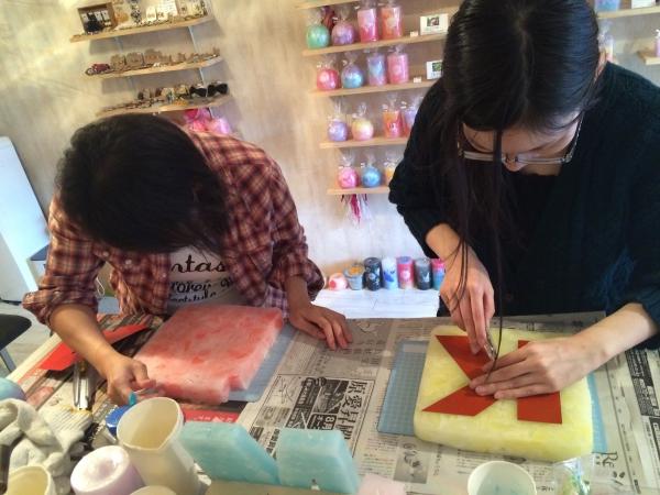 名古屋ではKumushだけ☆イニシャルキャンドル手作り体験!