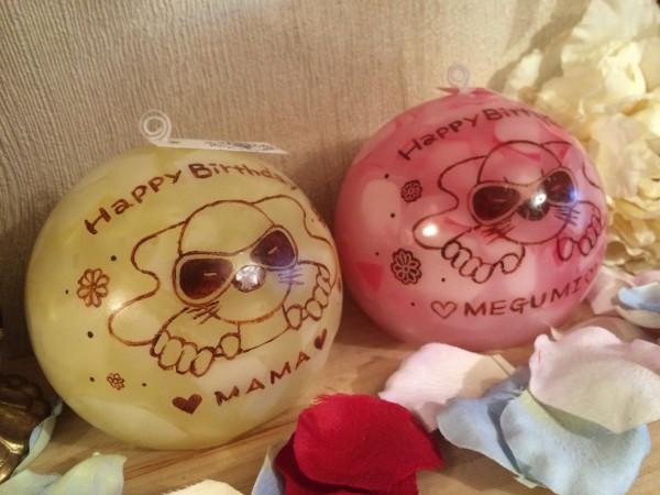 スナックのママへのお誕生日プレゼントに!お店のキャラクター入りキャンドルをプレゼントしてみてはいかがでしょうか☆
