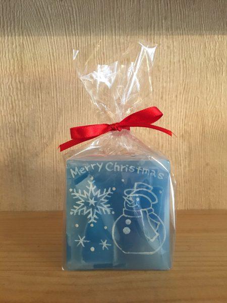 ボタニカル素材がかわいいクリスマスキャンドル♪