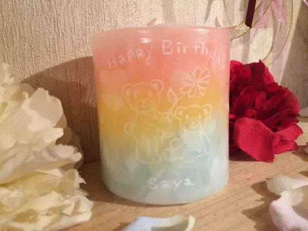 3月生まれの方へのお誕生日プレゼントに♪オーダーメイドのアロマキャンドルのご注文受け付けております!